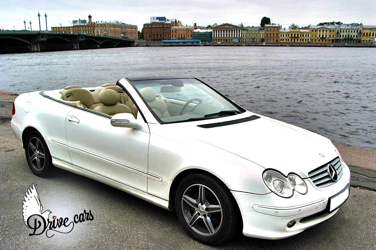 rent mercedes clk lambo white