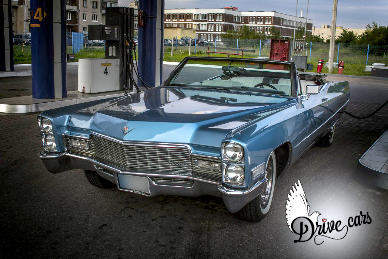 rent retro Cadillac Deville blue 9
