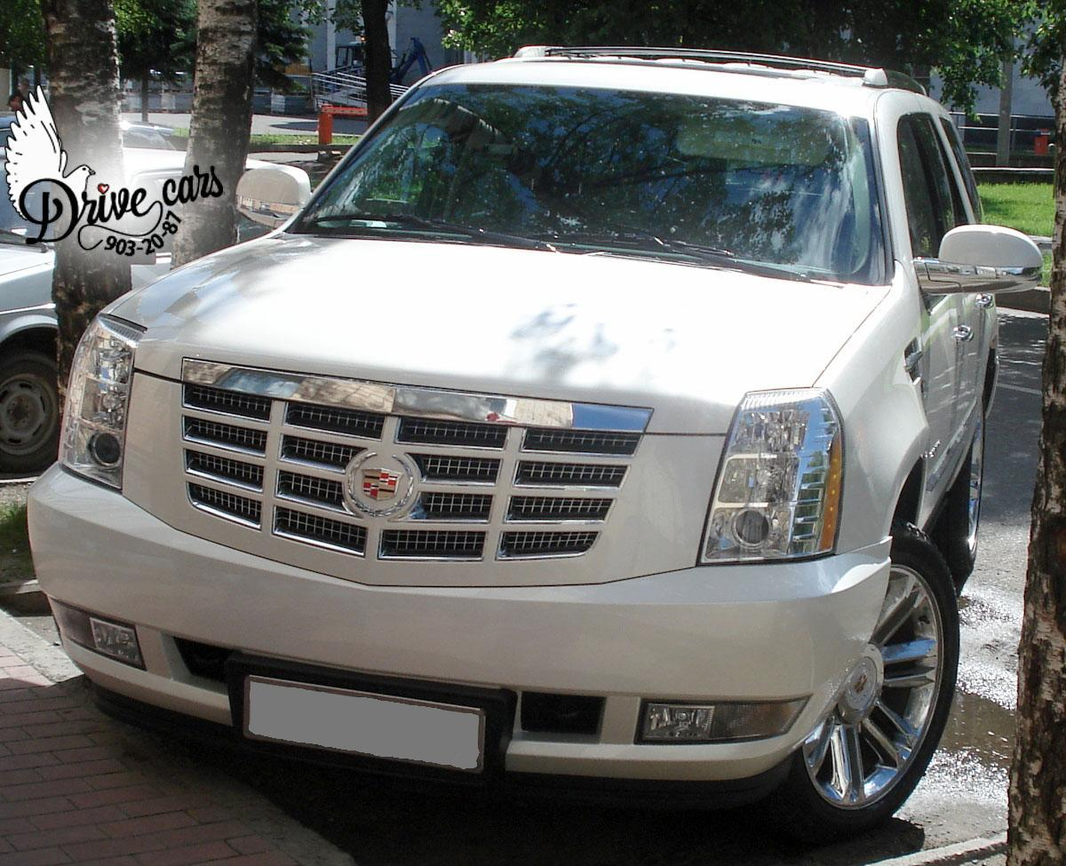 rent cadillac escalade white 4